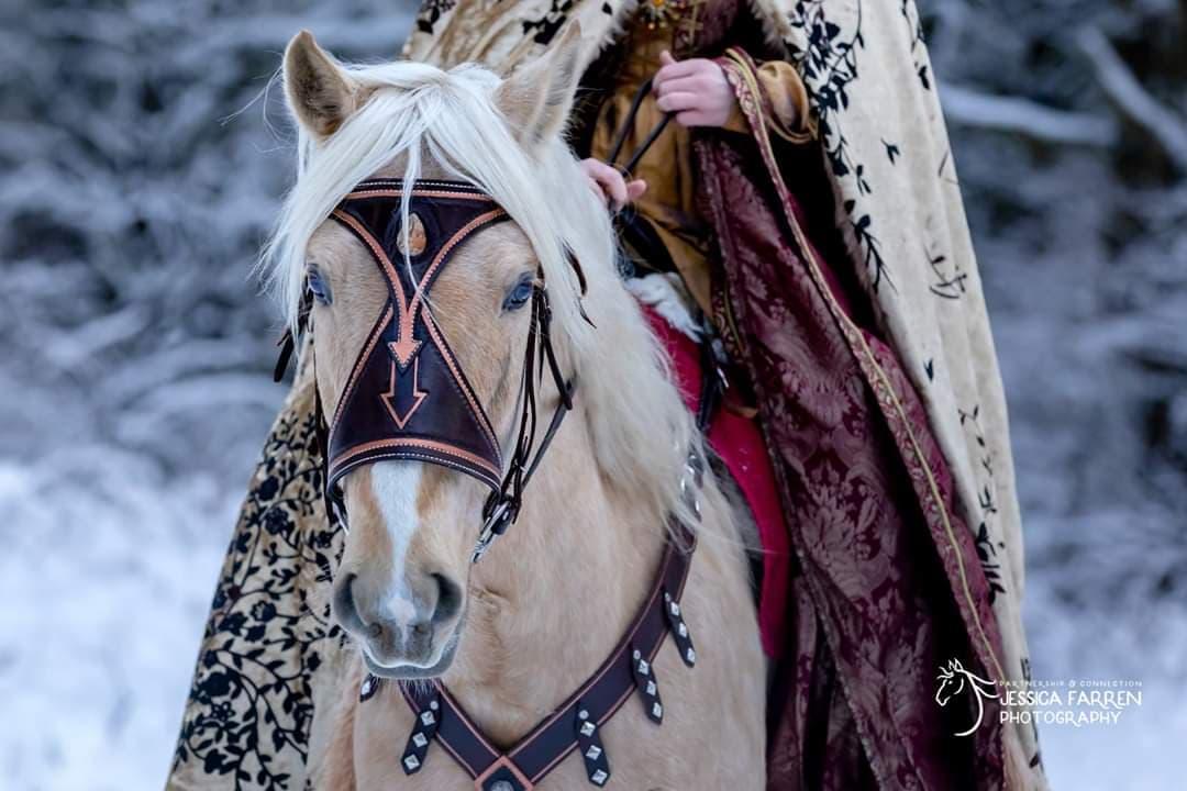 Lisa Badger Medieval Bridle Leather Work Washington Clarkcotalk